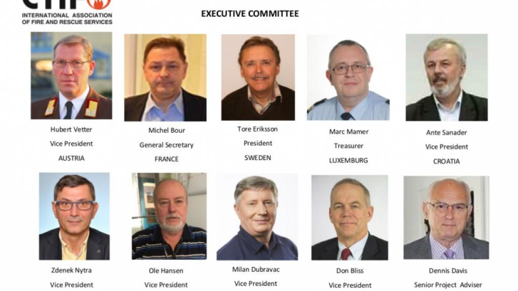 The Executive Committee of CTIF as of 2016